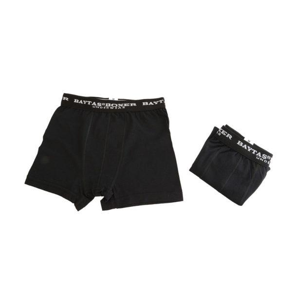 VistaBazaar Ανδρικά Boxer 2 Τεμάχια Μαύρα